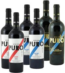 2 x 75cl PURO Malbec 2018, 2 x 75cl Corte 2017, 2 x 75cl Grape Selection 2015